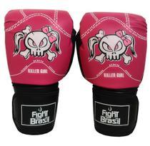 Luva Muay Thai Luva Boxe 14 Oz Fight Brasil Killer Girl Feminina -