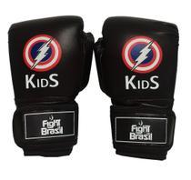 Luva Muay Thai Luva Boxe Infantil 4 Oz Kids Raio Fight Brasil -