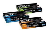Luva Nitrílica Black Profissional Proteção Agente Químico kit C/ 20 Unidades - Celeste