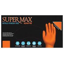 Luva Nitrílica para proteção química - mecânica e risco gerais - Laranja - Supermax