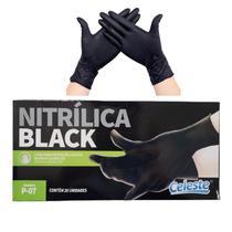 Luva Nitrílica Preta Celeste 20 unidades -