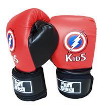 Luva Para Muay Thai Boxe Infantil Fight Brasil 4 Oz Kids Vermelha -