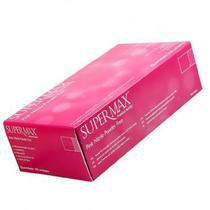 Luva para procedimento Não Cirúrgico  Rosa sem pó EP (XP) - NITRILO  Supermax Premium Quality Pink. -