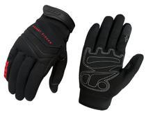 Luva Preta Com Vermelho X11 Nitro Win Tecido Touch Screen Moto Motociclista Motoboy Frio Inverno -
