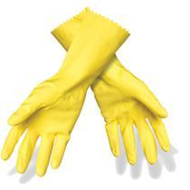 Luva SCOTH Brite para Limpeza M Amarela Pacote com 06 Unidades - 3M