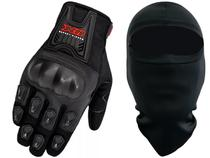 Luva X11 Blackout Com Proteção Motociclista + Balaclava -
