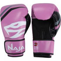 Luvas de Boxe e Muay Thai First 12OZ  Naja Rosa -