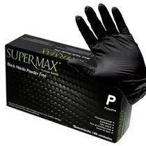 Luvas Nitrílica Preta Sem Pó Caixa Com 100un Tamanho P - Supermax