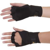 Luvas Para Musculação Com Munhequeira Em Neoprene Bilateral Preto - Artipé -
