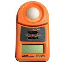 Luxímetro digital para qualquer uso ld-505 icel -