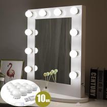 Luz de Espelho Maquiagem Usb Make Led Studio 3 Cores Camarim Regulavel - Ideal