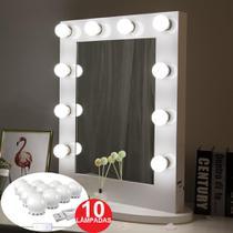 Luz De Espelho Maquiagem Usb Make Led Studio 3 Cores Camarim Regulavel - Miramart
