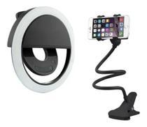 Luz De Selfie Ring Light Anel Led Flash Celular+ Mini Tripé -