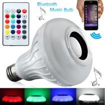 Luz Lampada colorida com controle e Bluetooth Festa e Balada - Inova