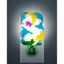 Luz Noturna incandescente no formato de Unicórnio com botão liga / desliga - Ge
