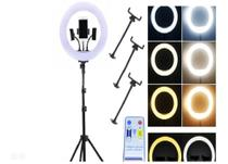 Luz  Ring light fotos videos 36cm com tripé 2.10m -