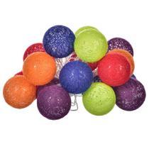 Luzes Decorativas de Led com 20 Bolas Colorido 285cm - ETNA