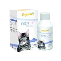 Lysin Cat Emulgel 100ml Organnact Suplemento Gatos -