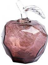 Maça em vidro L9,5 cm x P 9,5 cm x A14,5cm cor marrom - L Hermitage