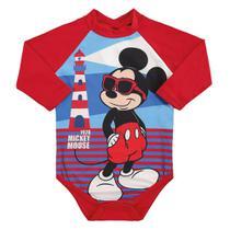 Macacão Bebê Marlan Body Proteção UV Disney Mickey Manga Longa Masculino -