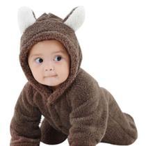 Macacão Bebê Pelúcia Urso Infantil Inverno - Mkids