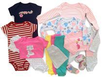 Macacão, Body E Calça Recém-nascido Meninas Kit Com 14 Peças - Baby Bird