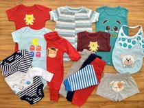 Macacão, Body E Calça Recém-nascido Meninos Kit Com 15 Peças - Baby Bird