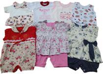 Macacão, Camiseta, Body  Kit 7 peças - Bela Bebê