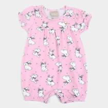 Macacão Curto Bebê Milon Coelhinhos Feminino -