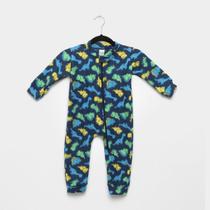 Macacão Infanti Longo Candy Kids Pijama Soft Zíper Dino Baby -
