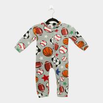 Macacão Infantil Longo Candy Kids Pijama Soft Zíper Baby -