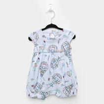 Macacão Infantil Marlan Romper Balões e Ursos Bebê Feminino -