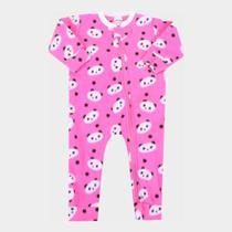 Macacão Longo Bebê Candy Kids Soft Fleece Feminino -
