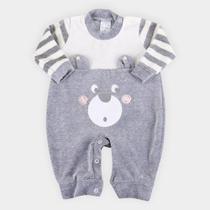 Macacão Longo Bebê Petutinha Plush Ursinho Masculino -