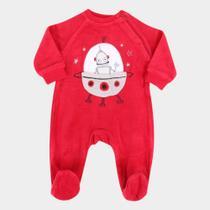 Macacão Longo Bebê Tip Top Plush Galáxia Masculino -