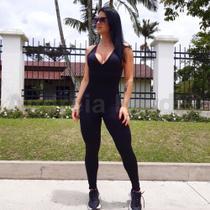 Macacão Longo Feminino Fitness Academia  - P - Andreia Hardt By Fitness