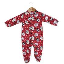 397522b4e7 Macacão Pijama Infantil Manga Longa - Pandas - Tip Top Vermelho