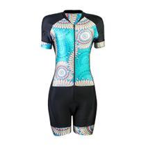 Macaquinho Ciclismo BIke Feminino Befast Indian - Forro GEL - Be Fast