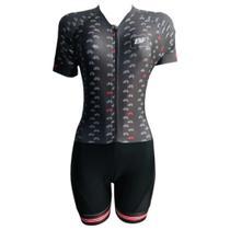 Macaquinho Ciclismo Feminino Bicicletinhas  Forro em GEL - Pro Tour