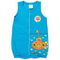 Macaquinho Regata Infantil Bebê Menino Submarino Azul - Fantoni