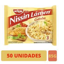 Macarrão instantâneo Miojo Nissin Galinha 86g - 50 Unidades -