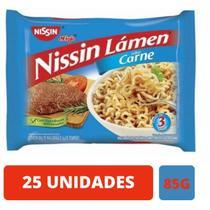 Macarrao instantâneo Miojo Nissin Sabor Carne 86g - 25 Unidades -