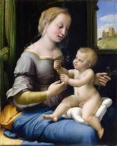 Madona dos Cravos - Rafael - 75x93 - Tela Canvas Para Quadro - Santhatela