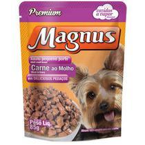 MAGNUS CÃES SACHE CARNE 85g  caixa com 18 unidades - Magnus Sachê