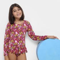 Maiô Body Infantil Tip Top Borborletas Feminino -