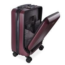 Mala de Bordo Executiva para Notebook para Viagem ABS Roda Dupla Giro 360º Cadeado TSA SWISSLAND Vermelha -