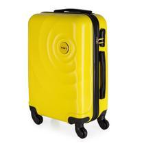 Mala de Bordo para Viagem em ABS Star Yins Cadeado Embutido Rodas Giro 360º Tam P Amarela -