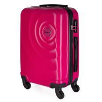 Mala de Bordo para Viagem em ABS Star Yins Cadeado Embutido Rodas Giro 360º Tam PP Rosa -