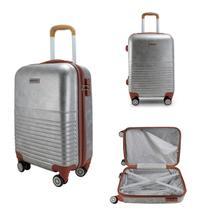 Mala De Bordo para viagem Vintage com maleta carona prata - Jacki design