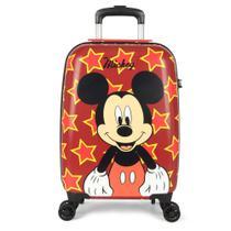 Mala De Viagem De Bordo Mickey Mouse 360 Com Cadeado - Luxcel -